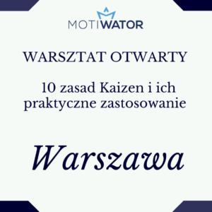warsztat Kaizen Warszawa Aneta Wątor