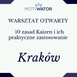 warsztat Kaizen Kraków Aneta Wątor